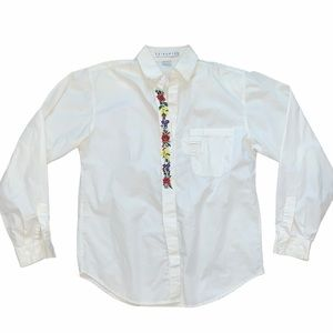 Vintage  Chinawear Embroidered Button down Blouse